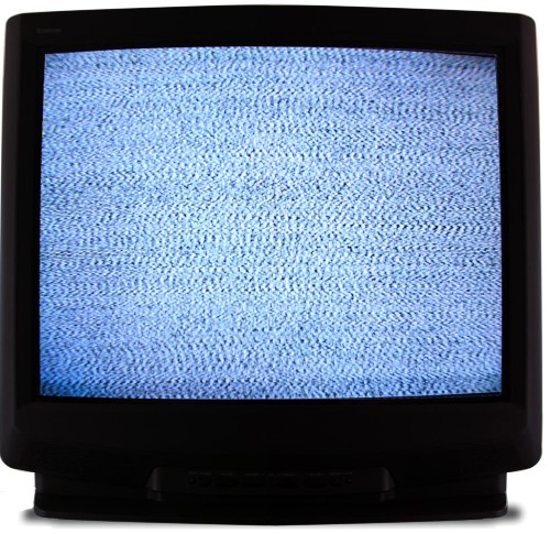 Snow on a TV screen
